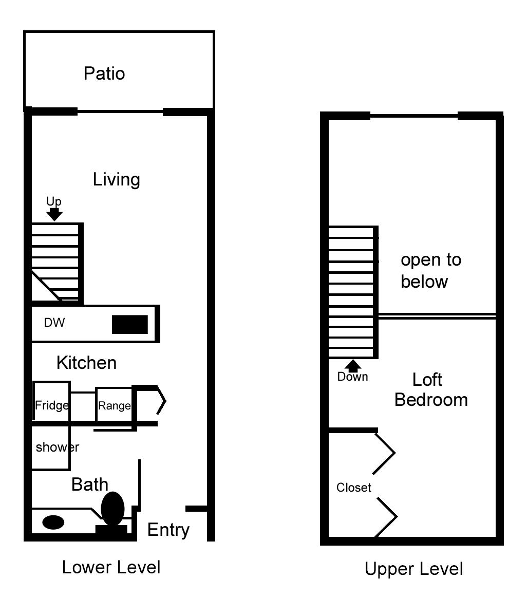 2 Bedroom Loft Apartment Floor Plans Viewing Gallery